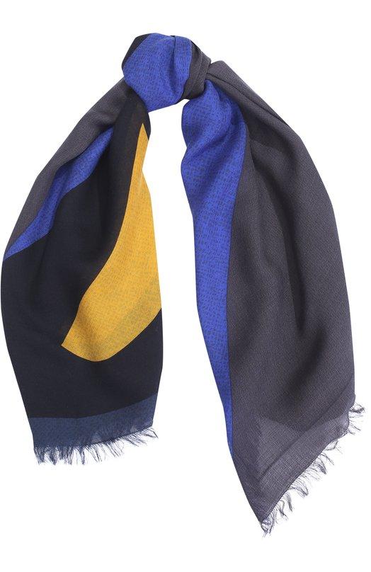 Платок из смеси шерсти и шелка с принтом Fendi FXS296/6X7