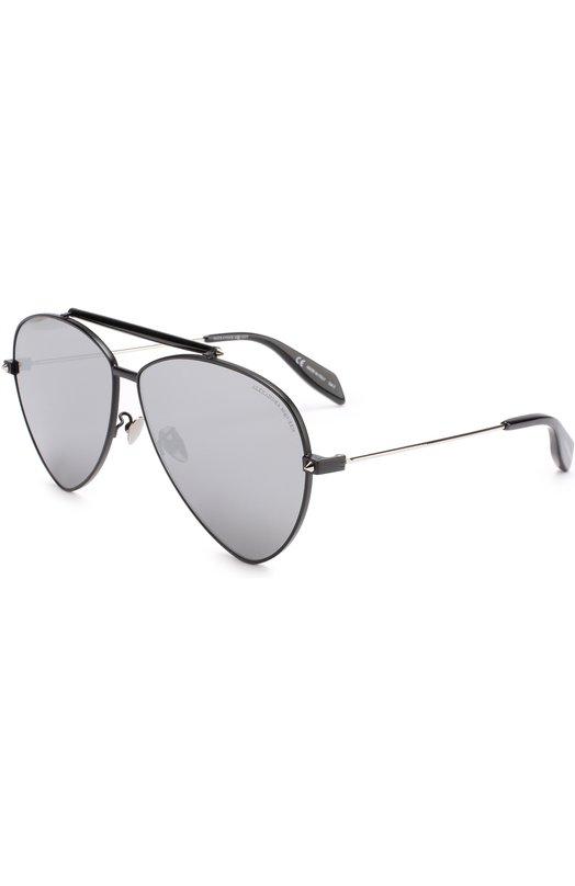 Купить Солнцезащитные очки Alexander McQueen, 0058 001, Италия, Черный
