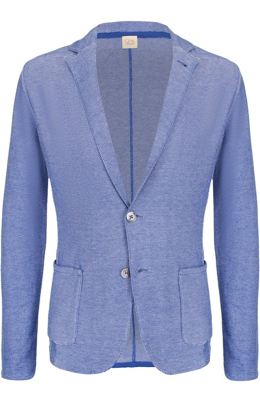 Хлопковый однобортный пиджак Sartoria Latorre KNIT/MA01