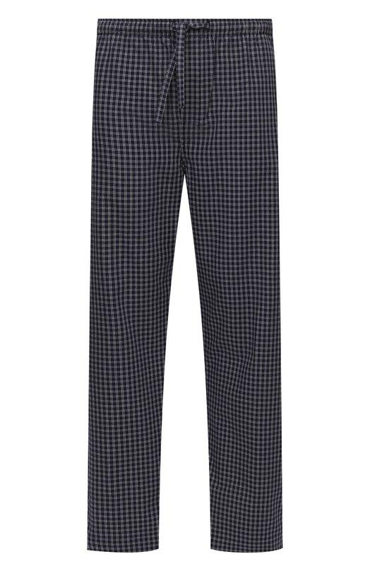 Хлопковые домашние брюки свободного кроя Derek Rose 3564-BRAE032