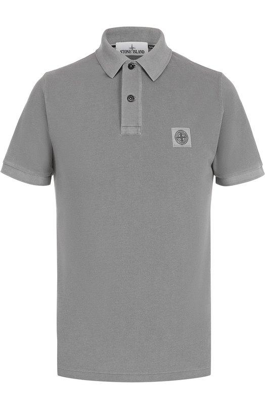 Хлопковое поло с логотипом бренда Stone Island 661522S67