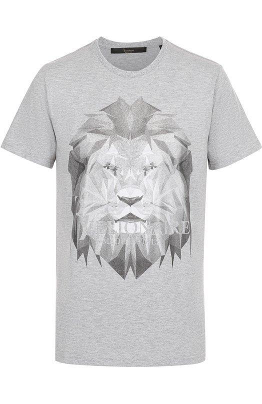 Хлопковая футболка с принтом Billionaire I17C MTK_0508 BTE014N