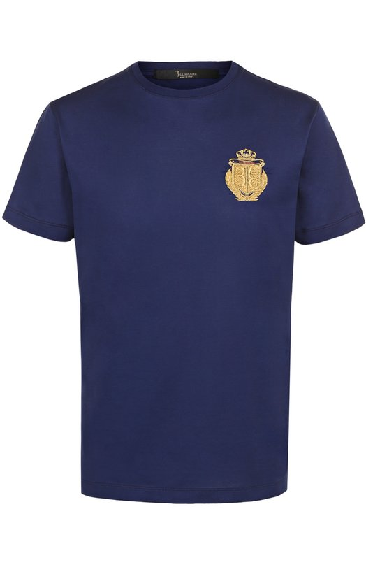Хлопковая футболка с контрастной отделкой Billionaire I17C MTK_0513 BTE014N