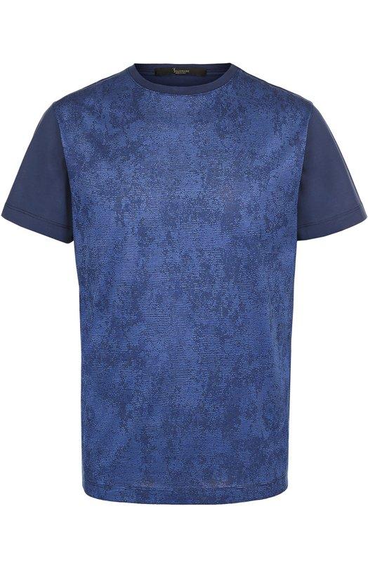 Хлопковая футболка с принтом Billionaire I17C MTK_0637 BTE014N