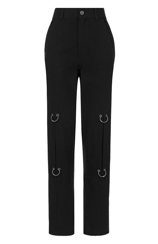 Хлопковые брюки прямого кроя с декоративной отделкой Damir Doma BS1M0007/F1501
