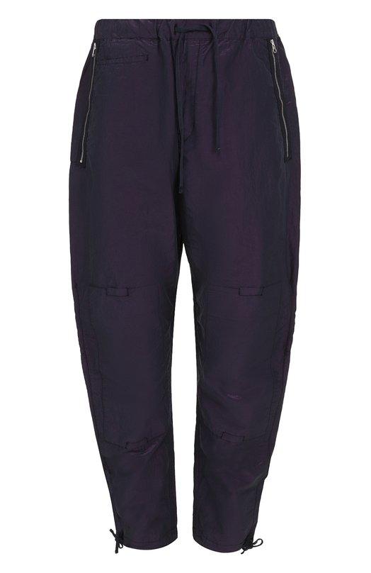 Хлопковые брюки свободного кроя с поясом на резинке Stone Island 661930107