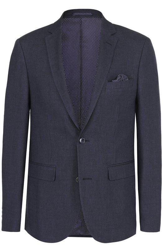 Однобортный пиджак из смеси льна и шерсти Sand 6954/STAR.
