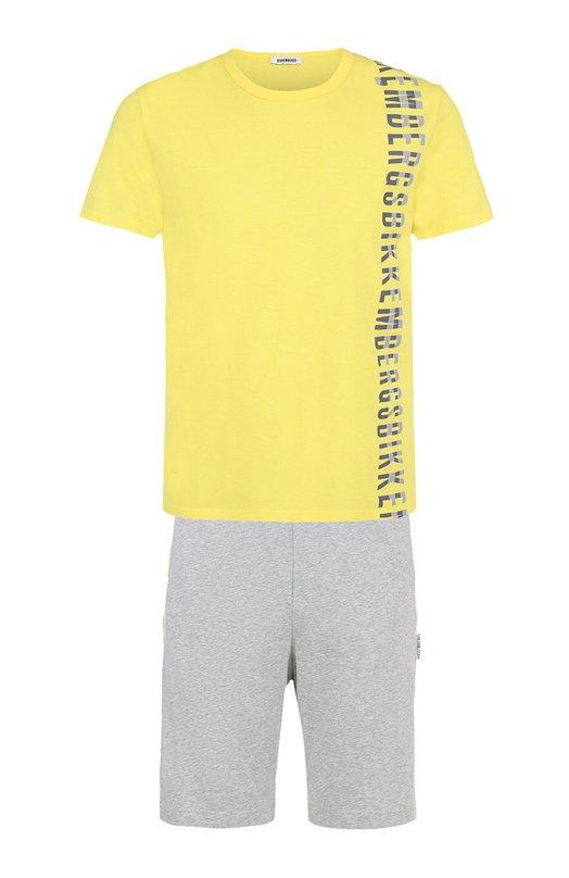 Хлопковая пижама с шортами Dirk Bikkembergs BPP2017