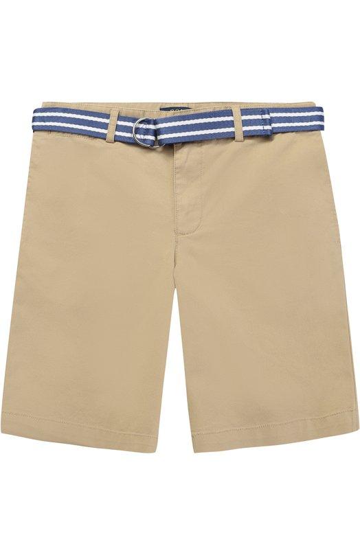 Хлопковые шорты с ремнем в полоску Polo Ralph Lauren B22/XZ70Q/XY70Q