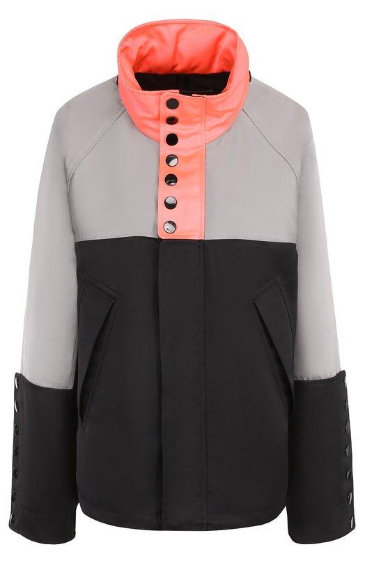 Куртка прямого кроя с контрастным воротником-стойкой Alexander Wang 101641S17