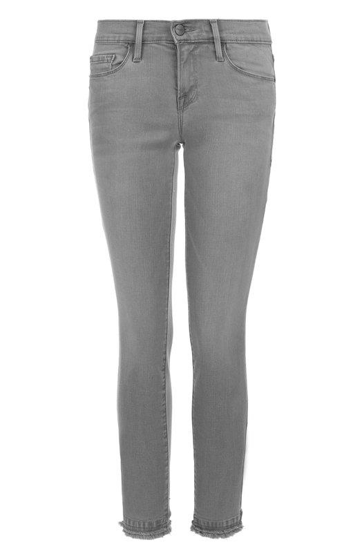 Укороченные джинсы-скинни с бахромой Frame Denim LSJDR208