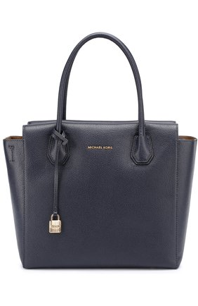 Сумка Mercer Large Satchel  MICHAEL Michael Kors темно-синяя | Фото №1