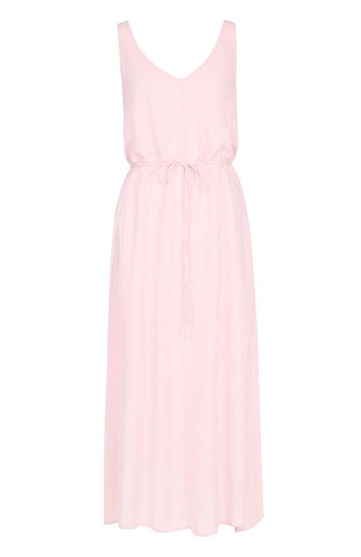 Платье-макси асимметричного кроя с поясом Deha B52222