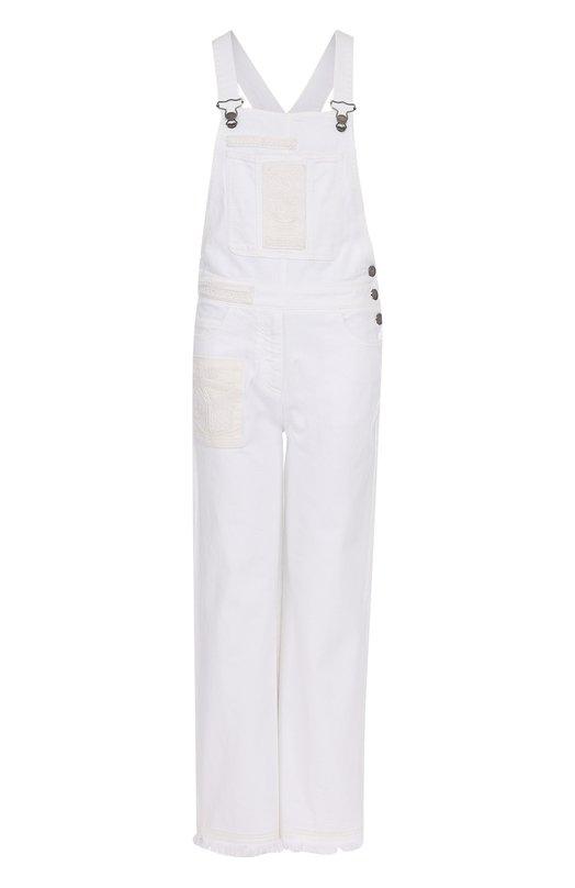 Джинсовый комбинезон с декоративной вышивкой Valentino MB3DD04A/1Y0