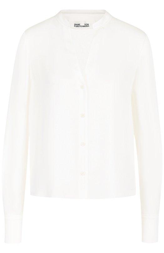 Шелковая блуза с V-образным вырезом Diane Von Furstenberg 10263DVF