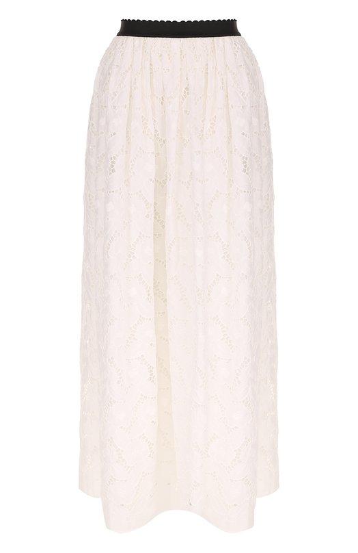 Кружевная юбка-макси с контрастным принтом Blugirl 21310