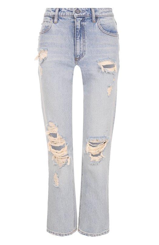 Укороченные расклешенные джинсы с потертостями Denim X Alexander Wang 4137027