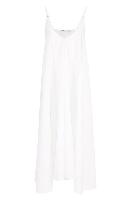 Хлопковое платье-комбинация свободного кроя T by Alexander Wang 403432S17