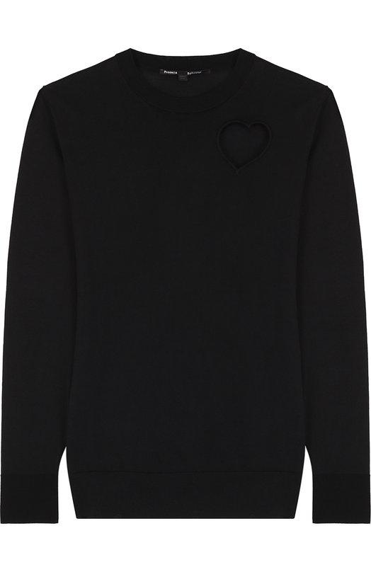 Пуловер прямого кроя с вырезом в форме сердца Proenza Schouler R172701-KC034