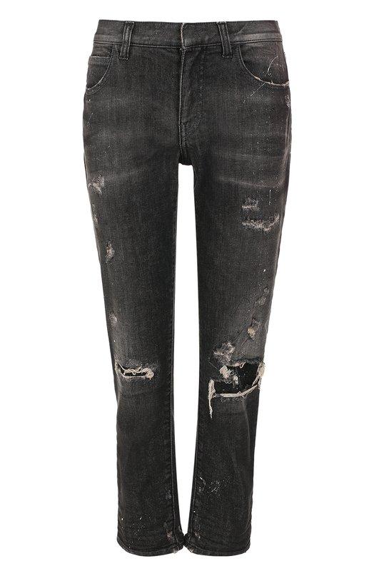 Укороченные джинсы с потертостями Faith Connexion W5501D00059