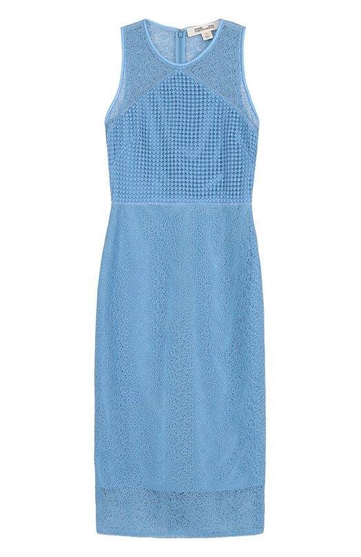 Полупрозрачное кружевное платье-миди Diane Von Furstenberg 10117DVF