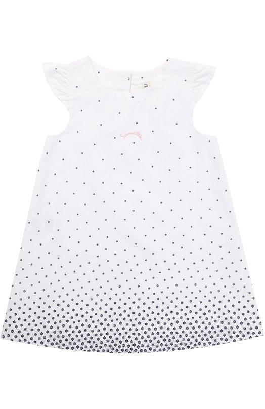 Купить Хлопковое платье свободного кроя с принтом Sanetta Fiftyseven, 906291, Румыния, Белый, Хлопок: 100%;