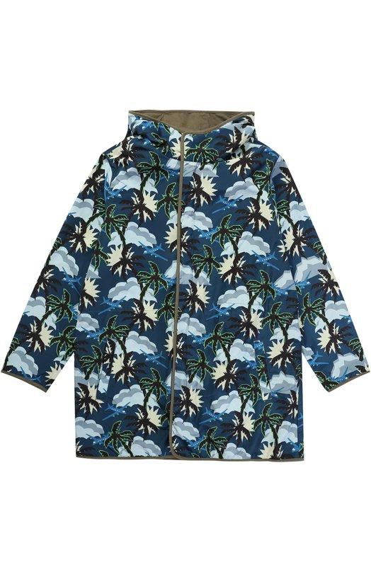 Куртка с принтом и капюшоном Stella McCartney 446282/SIK82