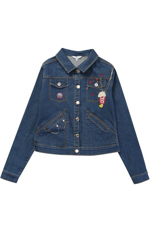 Куртка из денима с нашивками и декором Marc Jacobs W16071/6A-12A