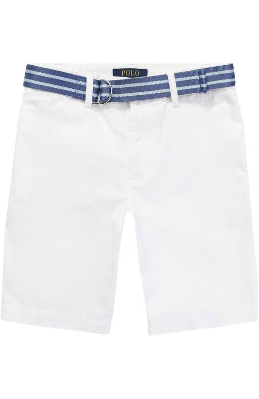 Хлопковые шорты с контрастным поясом Polo Ralph Lauren B22/XZ70Q/XY70Q