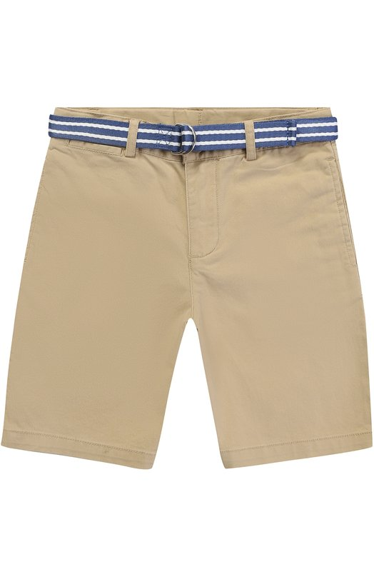 Хлопковые шорты с контрастным поясом Polo Ralph Lauren K22/XZ70Q/XY70Q