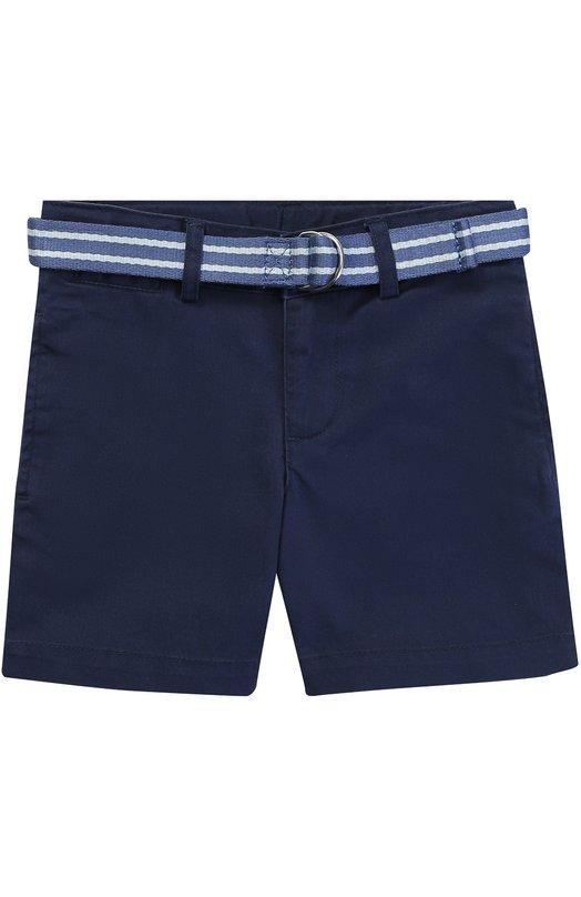 Хлопковые шорты с контрастным поясом Polo Ralph Lauren T22/XZ70Q/XY70Q