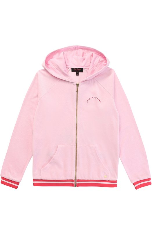 Спортивный кардиган с вышивкой и аппликацией Juicy Couture GTKJ64993