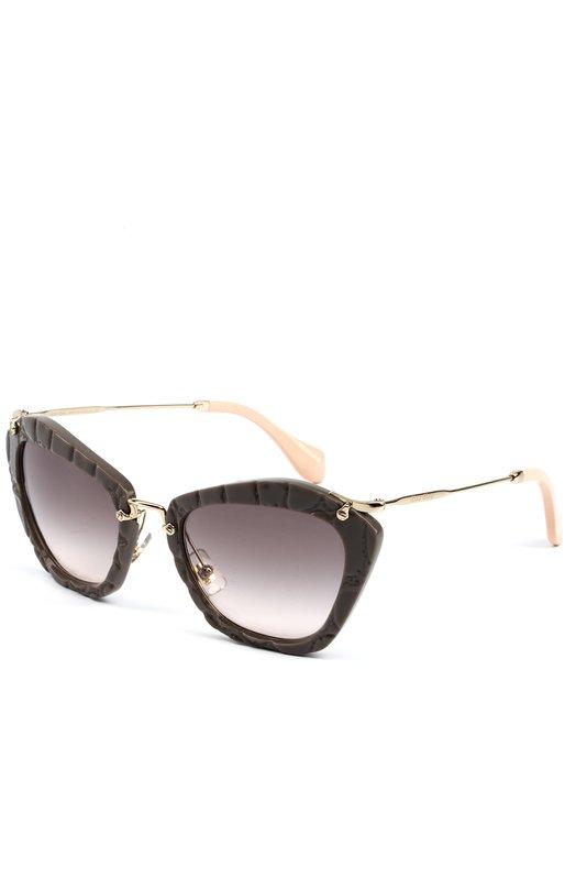 Купить Солнцезащитные очки Miu Miu, 10NS-USY4K0, Италия, Коричневый