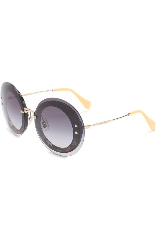 Купить Солнцезащитные очки Miu Miu, 10RS-U6E5D1, Италия, Серый
