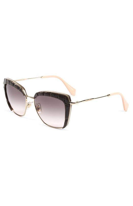 Купить Солнцезащитные очки Miu Miu, 52QS-USY4K0, Италия, Коричневый