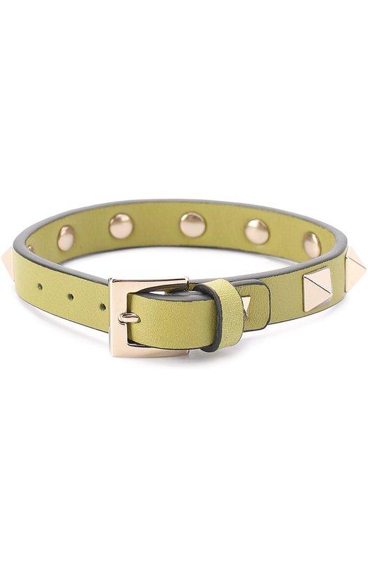 Кожаный браслет Rockstud Valentino MW0J0255/VIT