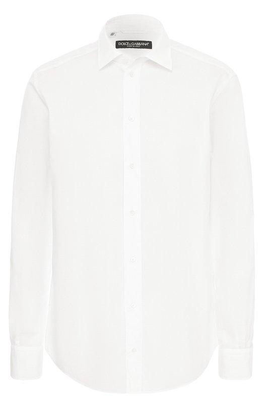 Купить Хлопковая сорочка с воротником кент Dolce & Gabbana, 0101/G5EA2T/G8U68, Италия, Белый, Хлопок: 100%;