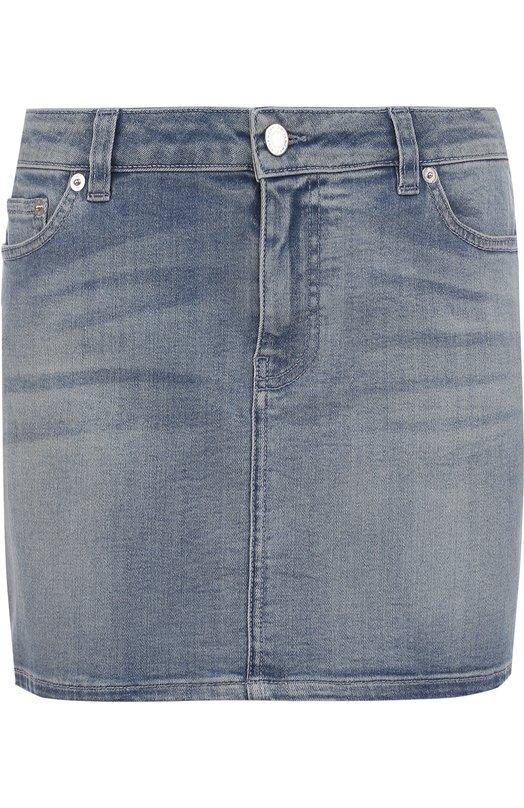 Джинсовая мини-юбка с потертостями Givenchy 17Y/4522/611