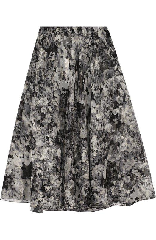 Шелковая юбка-миди с цветочным принтом Lanvin RW-ST4002-3476-P17