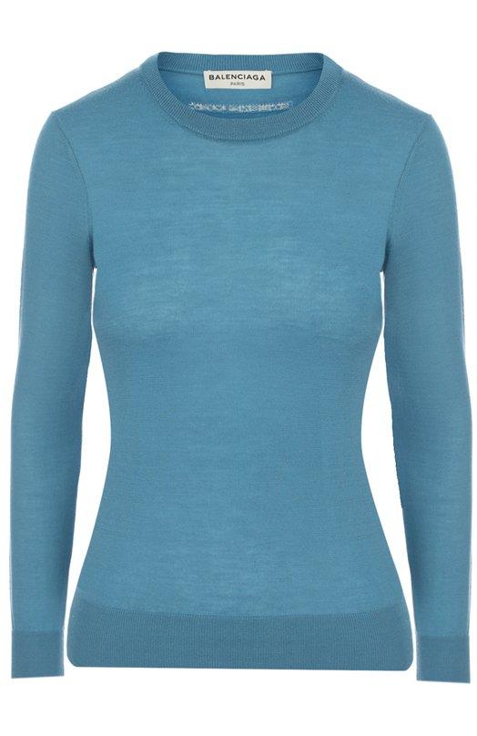 Кашемировый пуловер с круглым вырезом Balenciaga 470146/T4070