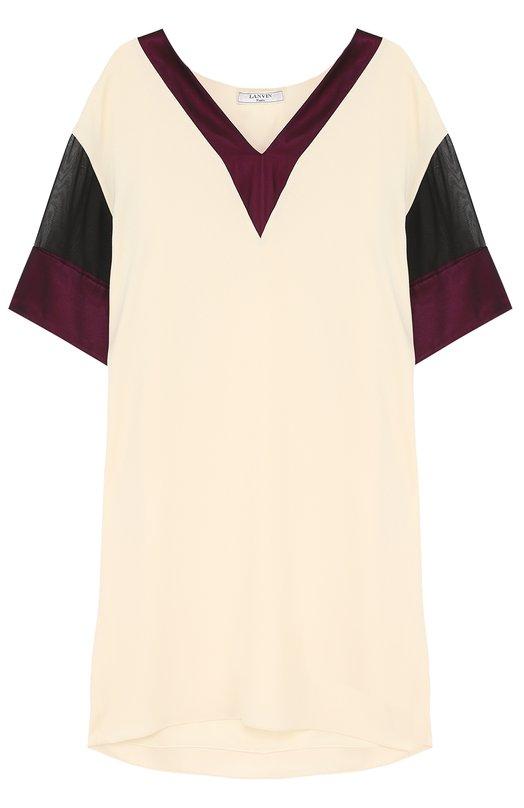 Мини-платье с V-образным вырезом Lanvin RW-DR2029-3422-P17