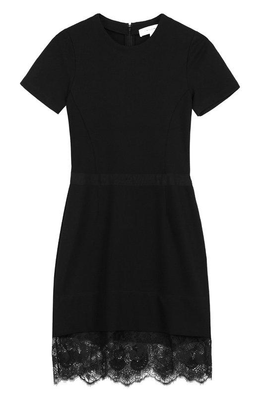 Облегающее мини-платье с кружевной отделкой Carven 7014R0408