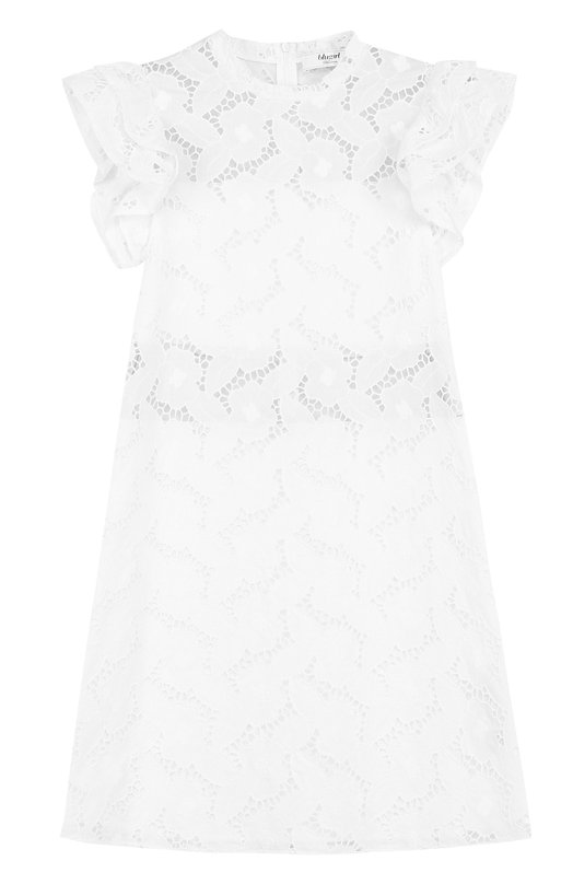 Кружевное платье А-силуэта с оборками Blugirl 21382