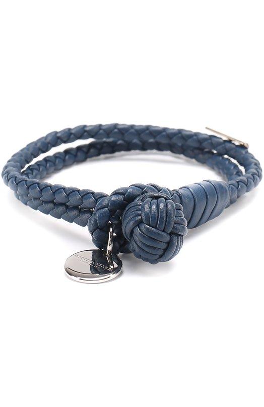 Купить Кожаный браслет с плетением intrecciato Bottega Veneta Италия 1835848 113546/V001D