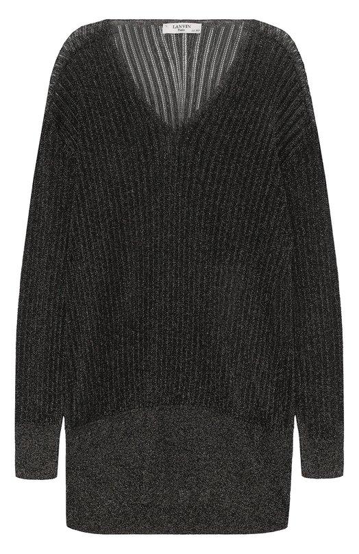 Удлиненный пуловер с металлизированной отделкой Lanvin RW-T03676-MA36-E17
