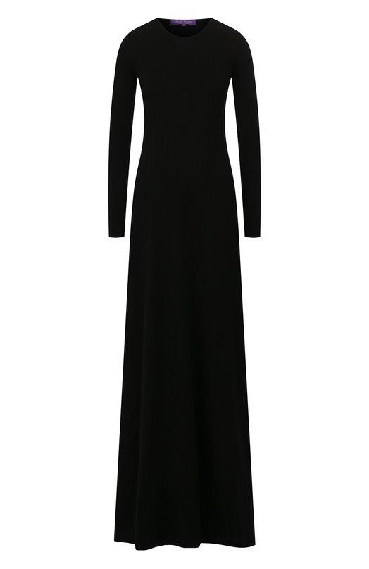 Купить Кашемировое платье-макси с длинным рукавом Ralph Lauren, 916/XZD66/XYD66, Италия, Черный, Кашемир: 100%;