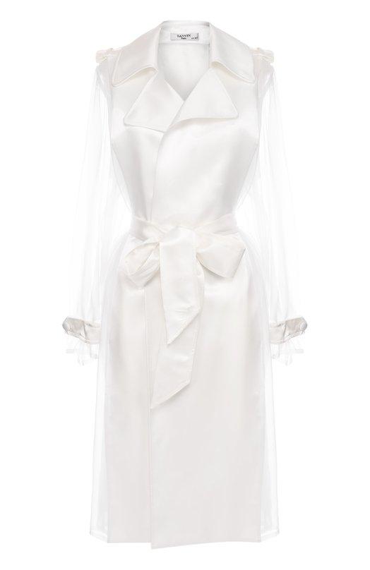 Пальто с полупрозрачными вставками поясом Lanvin RW-C01107-3554-E17