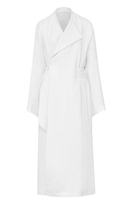 Льняное пальто свободного кроя с поясом Acne Studios 12B171