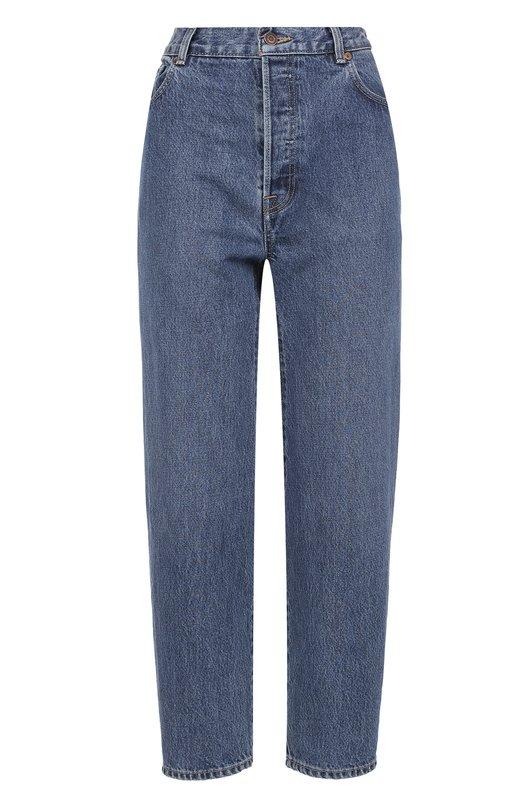 Укороченные джинсы с завышенной талией Vetements. Цвет: синий