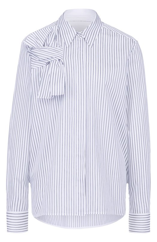 Хлопковая блуза прямого кроя в полоску Victoria by Victoria Beckham SHVV 043 SS17 MULTI STRIPE SHRTING